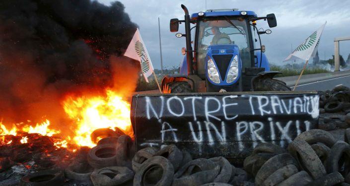 Huelga granjeros de la UE