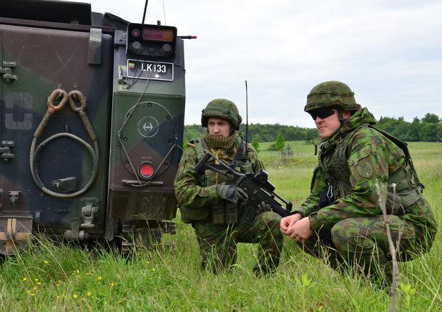 Militares lituanos (archivo)