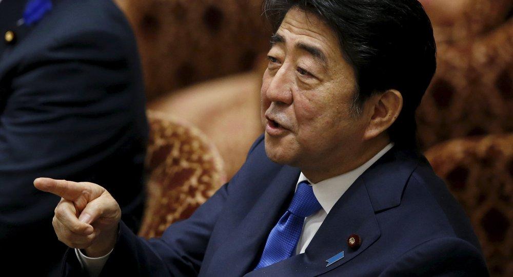Shinzo Abe, primer ministro de Japón, en Tokio, el 15 de julio, 2015