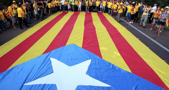 Bandera independista de Cataluña (archivo)