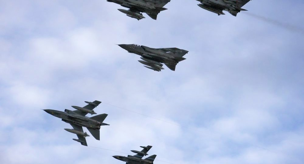 RAF Tornado GR4 Aircraft Return to RAF Marham