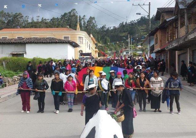 Una marcha indígena