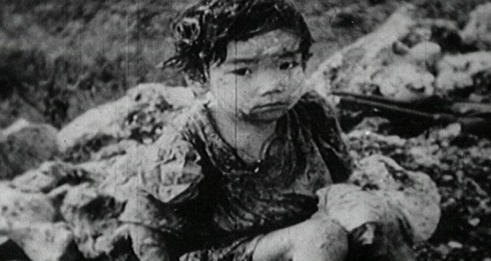 Bombardeo atómico de Hiroshima. Imágenes de archivo