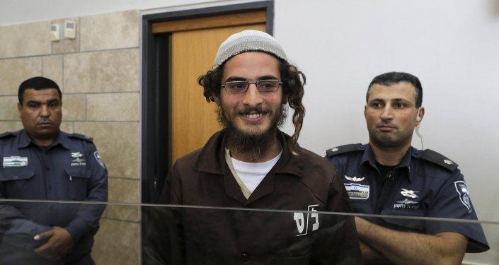 Meir Ettinger, el sospechoso de extremisto judío, en el Juzgado de Nazaret