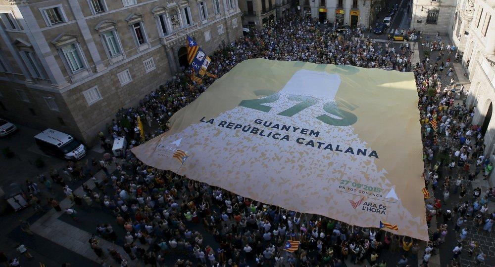 Partidarios de independencia de Cataluña en Barcelona