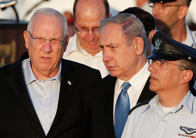 Presdiente de Israel, Reuven Rivlin, y primer ministro israelí, Benjamin Netanyahu