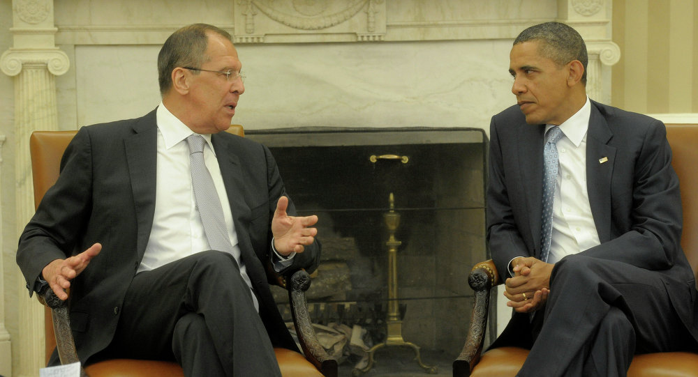 Serguéi Lavrov, ministro de Asuntos Exteriores de Rusia, y Barack Obama, presidente de EEUU (Archivo)