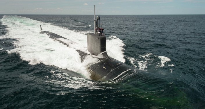 La nave submarina USS John Warner (archivo)