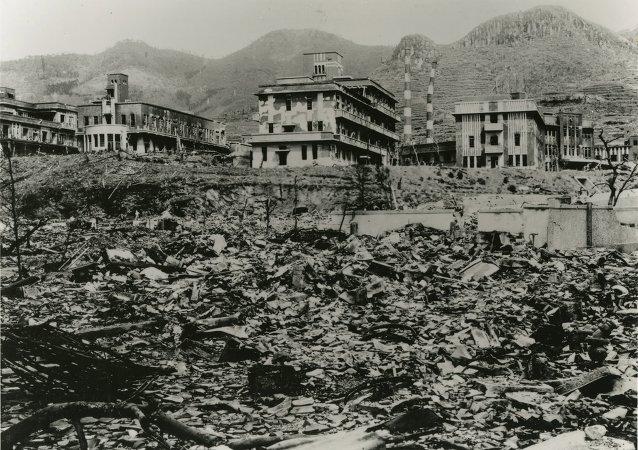 Nagasaki después de la explosión atómica