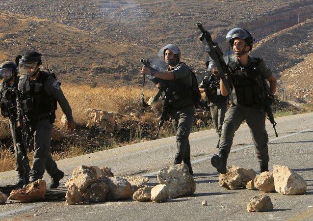 Policía de Israel en Duma