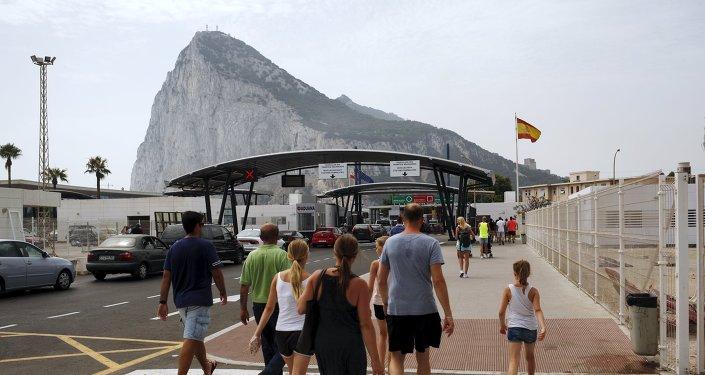 Frontera de España y Gibraltar