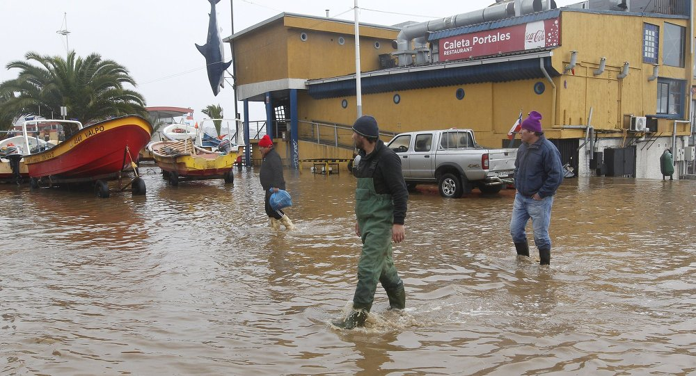 Inundación en Chile (archivo)