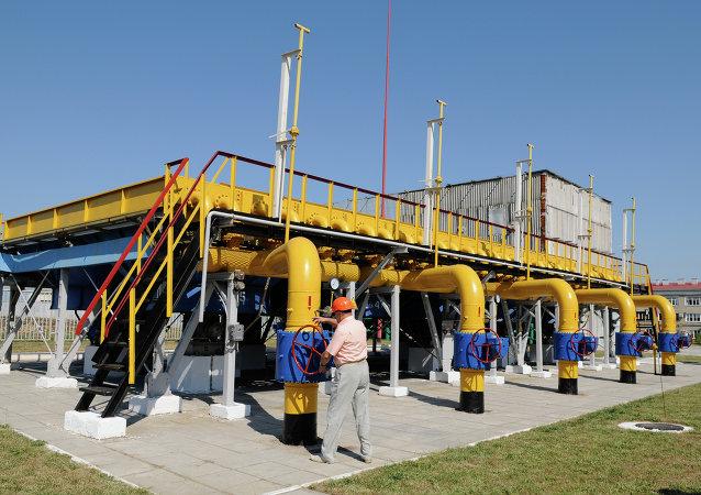 Estación de compresores en la región de Járkov, Ucrania