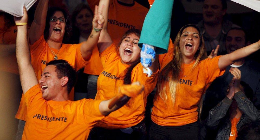 Partidarios de Daniel Scioli en Buenos Aires