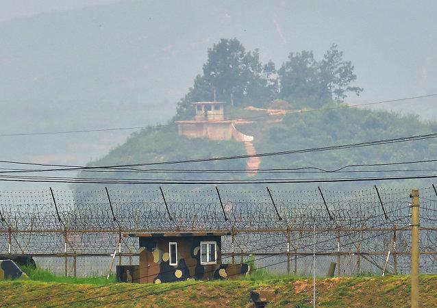 Frontera entre Corea del Norte y Corea del Sur (archivo)