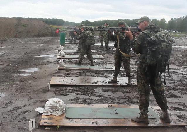 Soldados compiten en reconocimiento militar