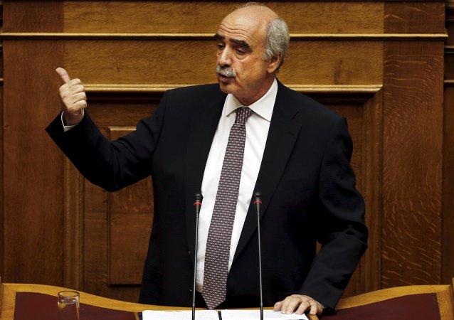 Vangelis Meimarakis, líder del partido Nueva Democracia