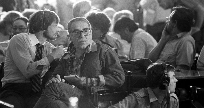 Gabriel García Márquez en su visita a Moscú en el año 1987