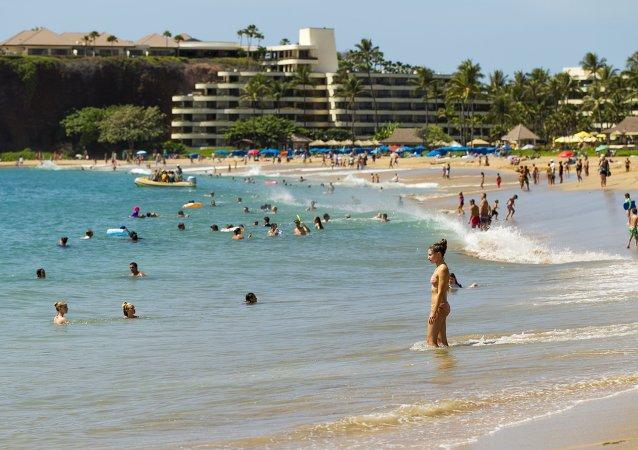 Playa en Lahaina, Hawái