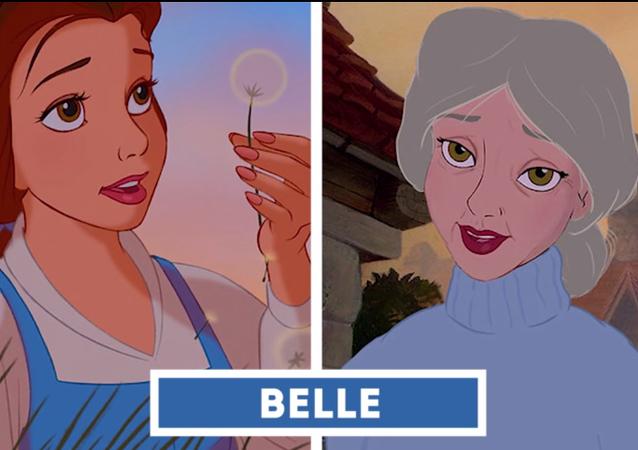 El aspecto que tendrían de mayores las princesas Disney