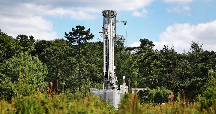 Extracción de petróleo de exquisito