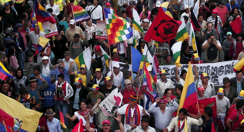 """Sindicatos de Ecuador alegan que paro nacional es contra """"prepotencia"""" del Gobierno"""