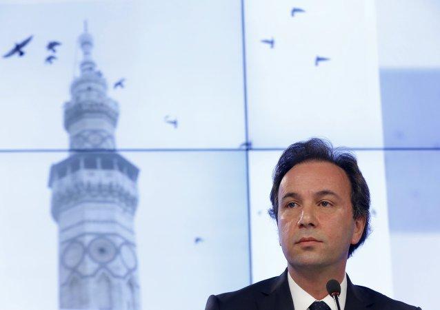 Jaled Joya, presidente de la Coalición Nacional Siria