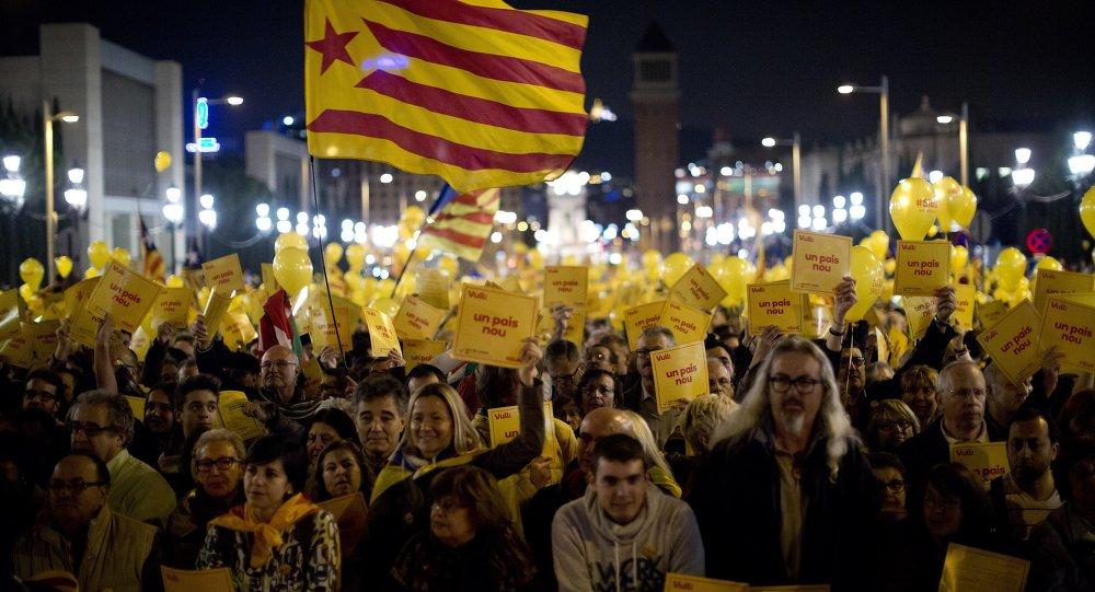 Votación simbólica por la independencia de Cataluña