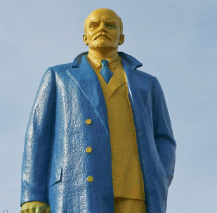 Estatua de Lenin en la ciudad ucraniana de Velika Novosilka