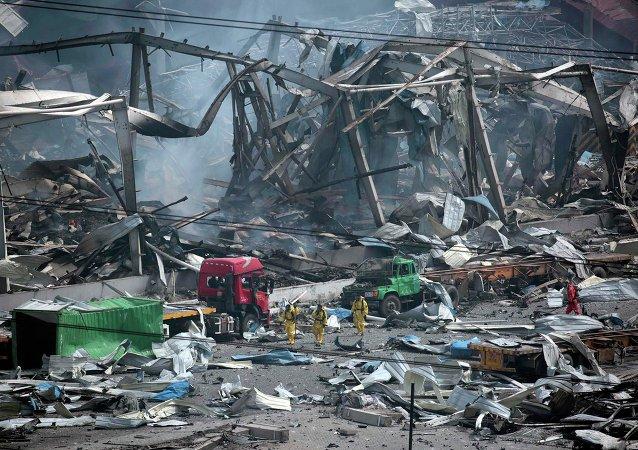 Consecuencias de la explosión en Tianjin