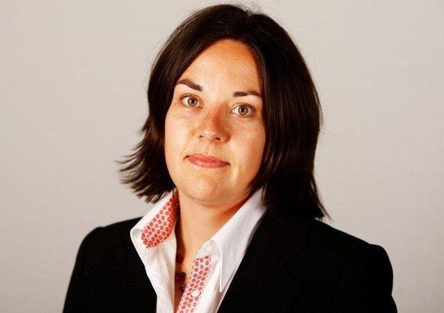 Kezia Dugdale, líder de Partido Laborista de Escocia
