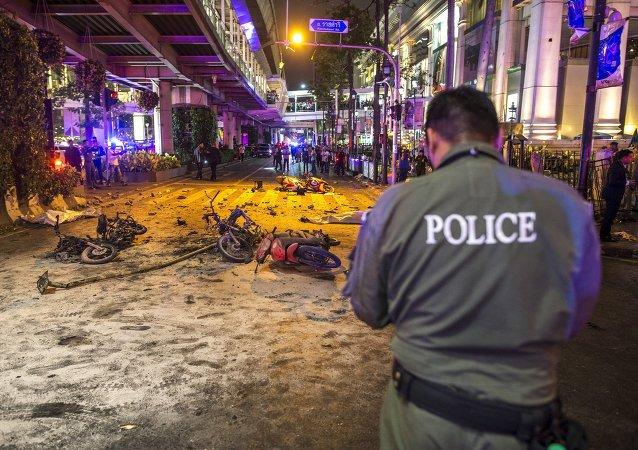 Lugar del atentado en Bangkok