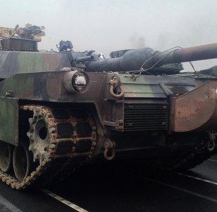 Tanque de Cuerpo de Marines de EEUU en Bulgaria