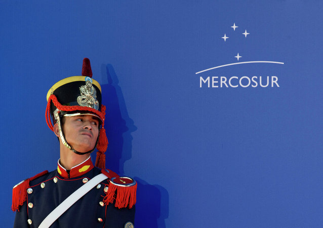 Un guardia de honor durante la Cumbre de Mercosur (archivo)