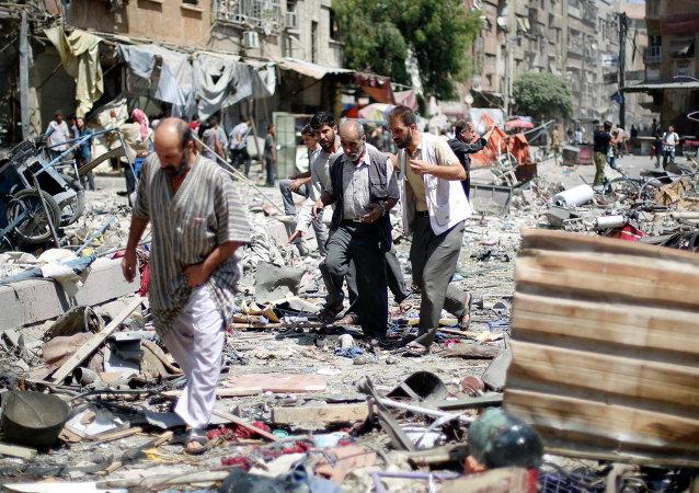 Situación en la ciudad de Douma