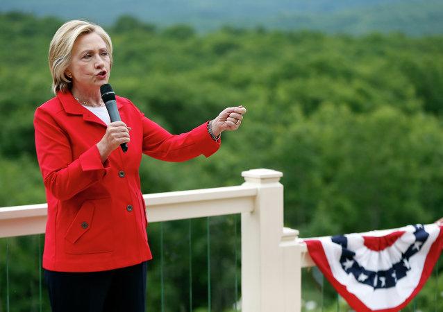Hillary Clinton, precandidata presidencial estadounidense