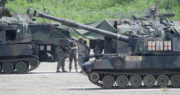 Militares estadounidenses durante los ejercicios conjuntos con Corea del Sur (archivo)