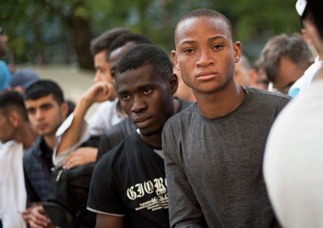 Migrantes africanos llegan a Alemania