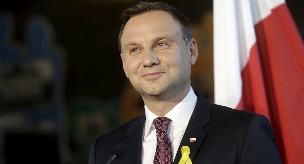 Resultado de imagen para presidente polaco, Andrzej Duda