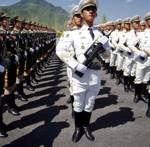 Ensayo de un desfile militar en Pekín