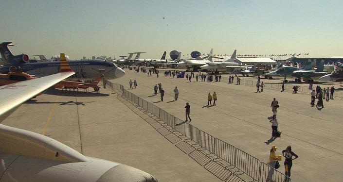 La inauguración del salón aeroespacial MAKS-2015