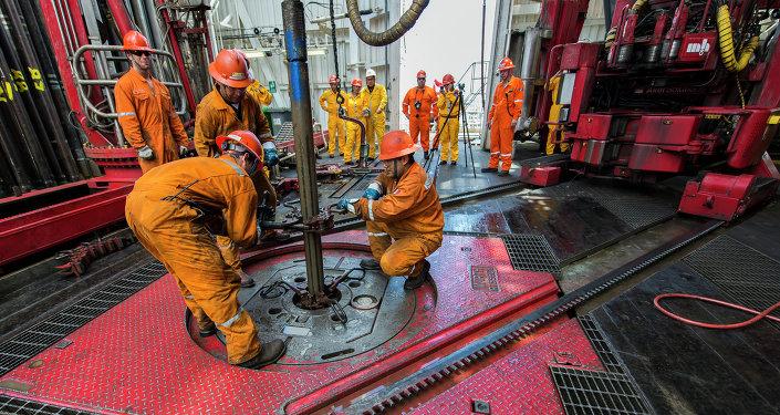 Platforma petrolífera La Muralla IV de petrolera mexicana PEMEX
