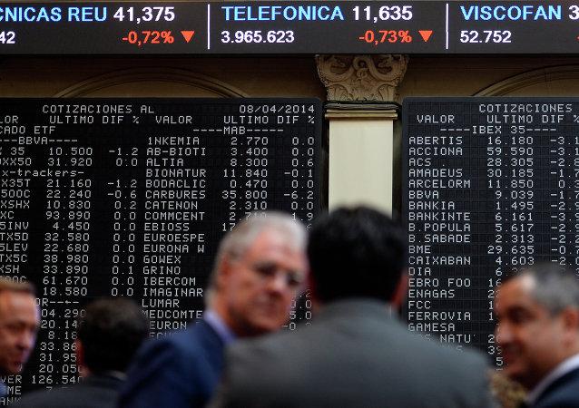 Visualizador de IBEX-35 en Bolsa de Madrid