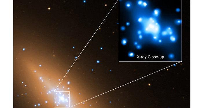 Черная дыра в центре галактики NGC 3115