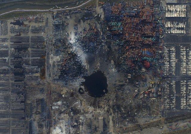 Lugar de la explosión de Tianjin