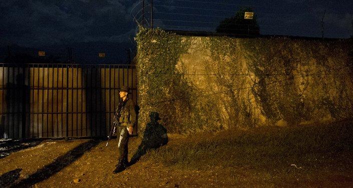 Un policía colombiano (archivo)