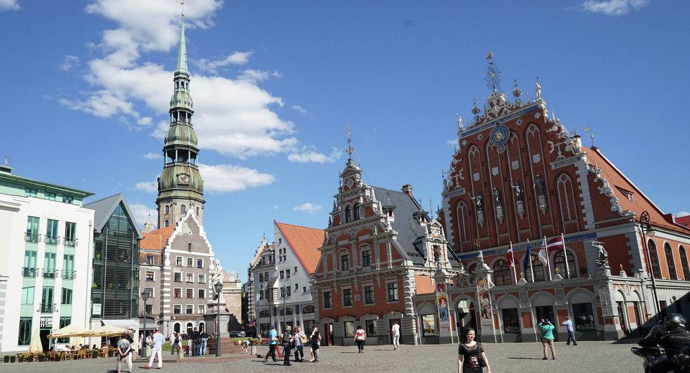 La ciudad de Riga, Letonia