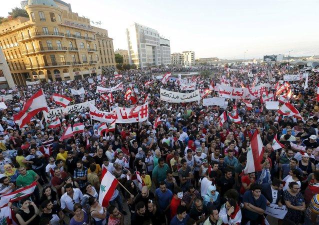 Manifestantes en Beirut ponen ultimátum a las autoridades libanesas