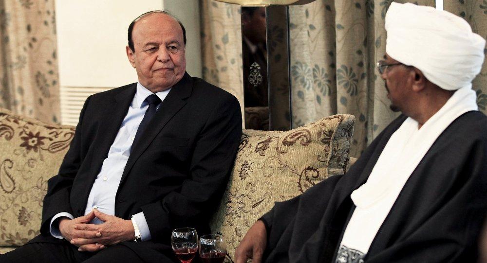 Presidente de Yemen Abdo Rabu Mansur Hadi y presidente de Sudán Omar al Bashir