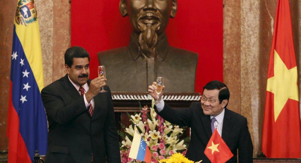 Presidente de Venezuela Nicolás Maduro y presidente de Vietnam Truong Tan Sang